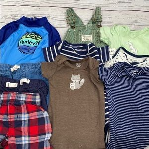 Boys Summer Clothing Lot Size 6 Month Overalls